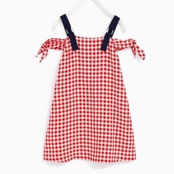 9d09f636d Zara Dresses | Girls Red Plaid Gingham Summer Dress 152 12 | Poshmark
